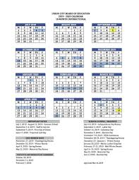 Printable School Year Calendars Printable School Calendar Basics Union City Public Schools