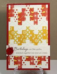 186 best Quilted cards images on Pinterest | Paper art, Block ... & Great Bargello card, from SeaGlass Papercrafts: & Chevron Chic Adamdwight.com