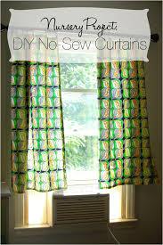 diy no sew curtains nursery project