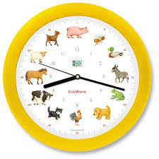 kookoo kids world wall clock