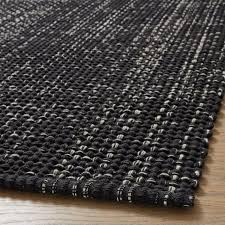 della black cotton flat weave rug runner 2 5x6 crate and barrel singapore