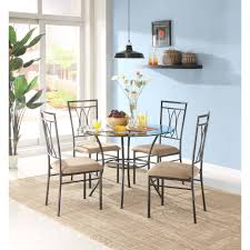 mainstays 5 piece glasetal dining set