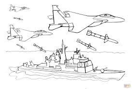 Vliegtuigen Schieten Raketten Af Kleurplaat Gratis Kleurplaten Printen