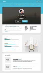 Free Html Resume Template Interesting 48 Best Html Resume Templates For Awesome Personal Sites Vcard