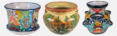 talavera flower pots planters and