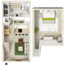 Exceptional Two Bedroom Floor Plans One Bath  One Bedroom - Rental apartment one bedroom apartment open floor plans