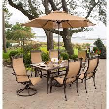 monaco 7 piece dining set with 9 ft table umbrella monaco7pcsw su