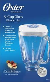 best oster 5cup replacement glass jar for most oster blenders clear white 4918 020