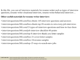 Sample Resume Questions Resume Writer Jobs Top 100 Interview Questions And Answers 100 58