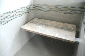 stone shower seat installation modern bench bathroom cushion natural showers with tile slab