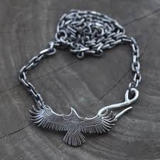 sterling silver eagle necklace native