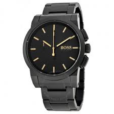hugo boss chronograph black dial black ion plated men s watch hugo boss chronograph black dial black ion plated men s watch 1513276