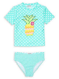 Flapdoodles - Little <b>Girl's</b> 2-Piece <b>Pineapple Bikini</b> Set ...