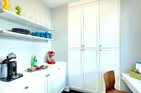 built in desk kitchen pantry with floating diy plans for