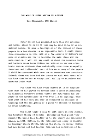 the work of peter hilton in algebra university publishing online the work of peter hilton in algebra