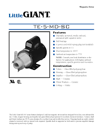 little giant technical specifications te 5 md sc process flow little giant technical specifications te 5 md sc