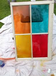 Design Master Tint It Spray Paint Diy Stained Glass On Old Window Pane With Design Masters