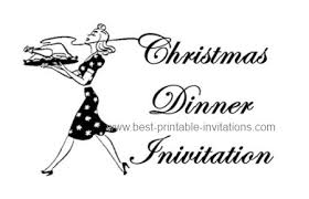 free christmas dinner invitations christmas dinner luncheon and potluck invitations