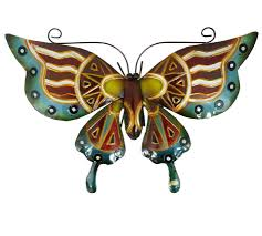 designs outdoor wall art: metal hanging garden home wall art large butterfly in  colour design curved gecko indoor outdoor