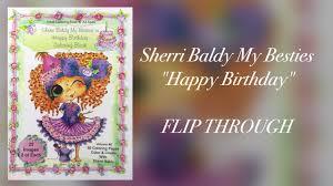 Sherri Baldy My Besties Happy Birthday Coloring Book Flip