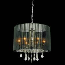 drum shade crystal chandelier