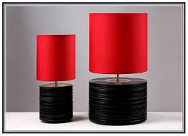 black and red table lamps