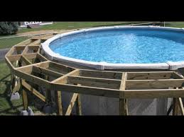 above ground pool deck construction