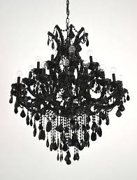 striking custom made maria theresa style 25 light black glass chandelier this dramatic chandelier