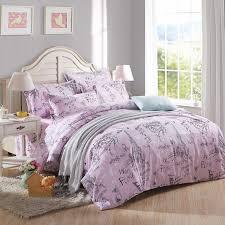 whole romantic love letter purple eiffel tower in paris bedding sets duvet cover pillowcases bed