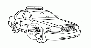 Small Picture Real Police Car coloring page for kids transportation coloring