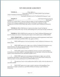 Business Confidentiality Agreement Sample Cool Non Disclosure Statement Template One Way Non Disclosure Agreement