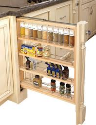 3 inch wood base cabinet pullout filler with adjule shelves