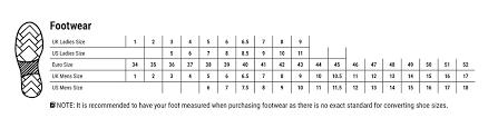 Shoe Size Chart 42 Footwear Size