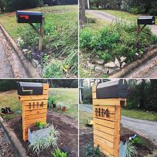 mailbox designs. Before And (nearly) After Pictures Of Our Mailbox Area. Post Came From Designs L