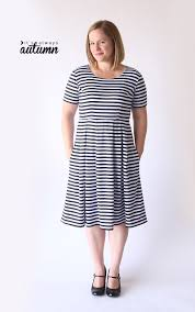 Fit And Flare Dress Pattern Awesome Sew The Perfect Knit Fit Flare Dress Without A Pattern It's