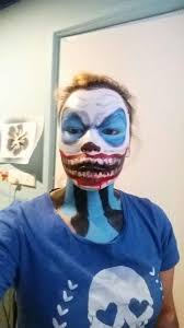 i also did the skull that tate from ahs does on my friend i did my clown by following the until dawn clown tutorial on you by madeyewlook