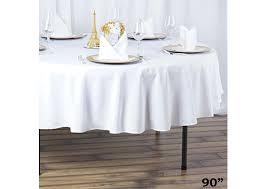90 round table linen white