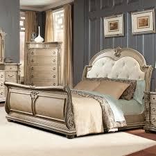 Sleigh Bed Bedroom Furniture Davis Direct Monaco Queen Sleigh Bed With Diamond Tufted Headboard