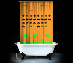 geeky shower curtains. Interesting Design Geek Shower Curtain Sensational Space Invaders For Geeks Unique Geeky Curtains O
