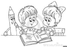black and white clipart of kids reading books free images at clker vector clip art royalty free public domain