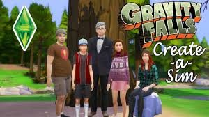 Sims 4 - Gravity Falls CAS - NoCC - YouTube