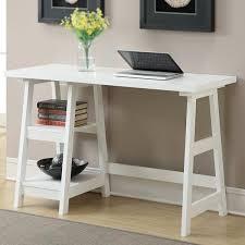 small desks home 5. Endearing Small White Computer Desk 5 Sweet Looking Amazon Com Convenience Concepts Designs2go Trestle Table Desks Home C