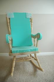 striped target rocking chair cozy berber carpet and white blue with oak wood frame plus baseboard