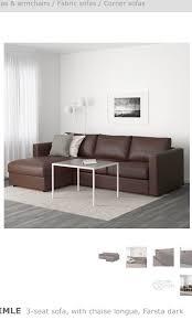 ikea vimle 3 seat sofa chaise longue