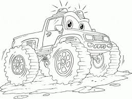 Small Picture Coloring Pages Monster Truck Coloring Pages Printable Monster