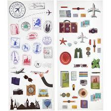 Sticker Design For Scrapbook Polaroid Scrapbook Stickers Travel