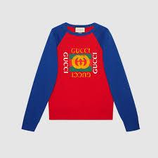 gucci logo. cotton jersey sweatshirt with gucci logo