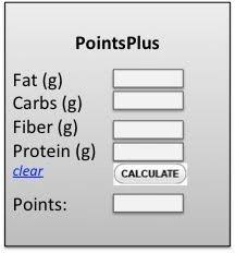 here is a free points plus calculator for food