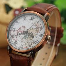 aliexpress com buy vintage men s watch casual leather wrist vintage men s watch casual leather wrist watches world map rome digital alloy dial antique quartz watch