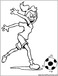 Coloring Pages Football Girl Football Coloring Pages Great Free Clipart Silhouette